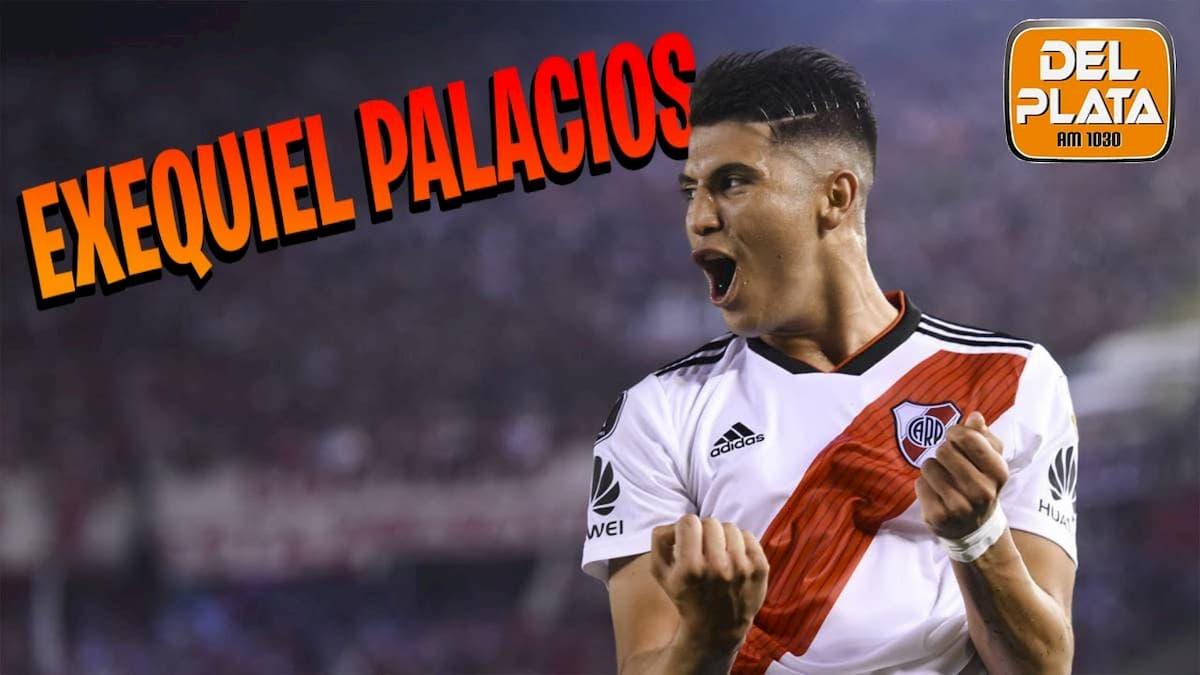 Exequiel Palacios con la camiseta milonaria