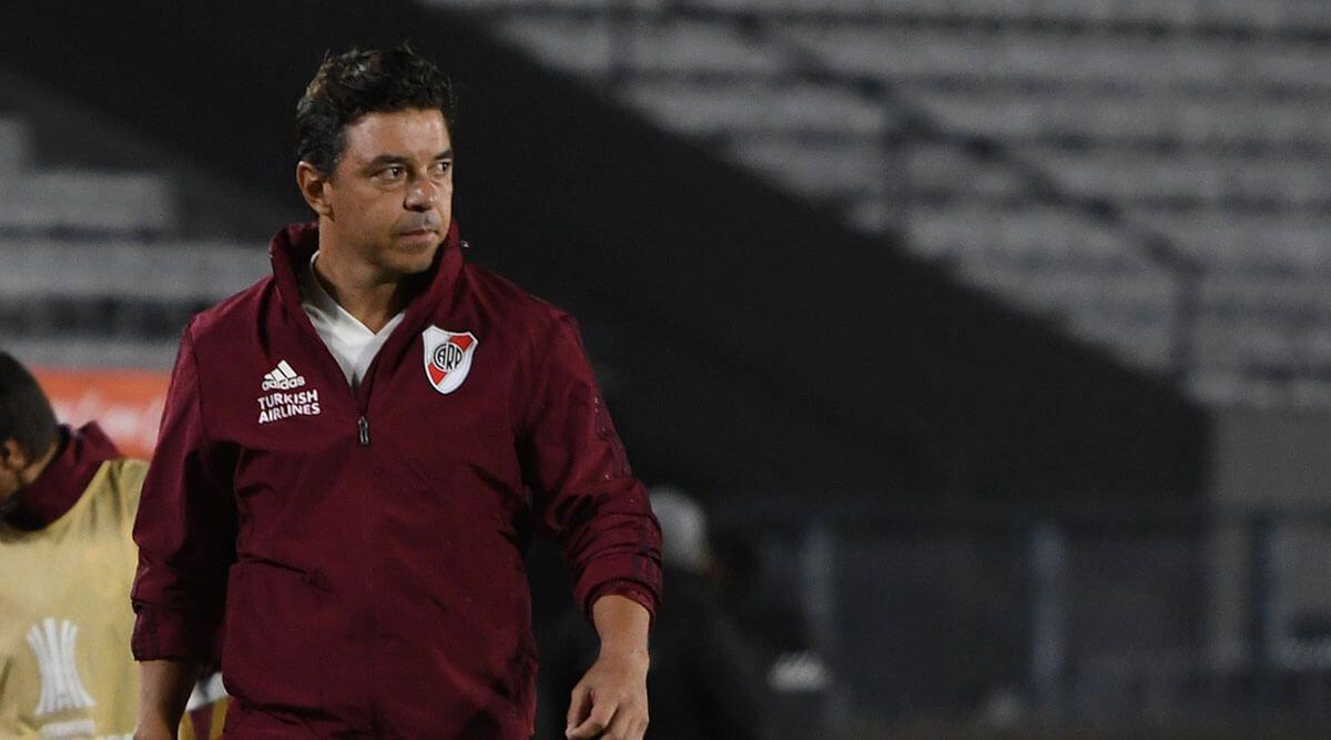 Marcelo Gallardo, técnico de River Plate durante un encuentro